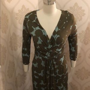 Boden Dresses - Blue and brown maxi dress